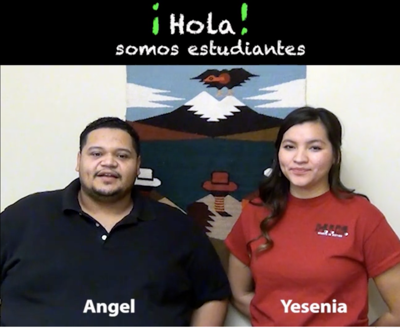 This is a screen shot of a Spanish-language video that will help explain cleft palate surgeries to parents of Guatemalan children with the condition.