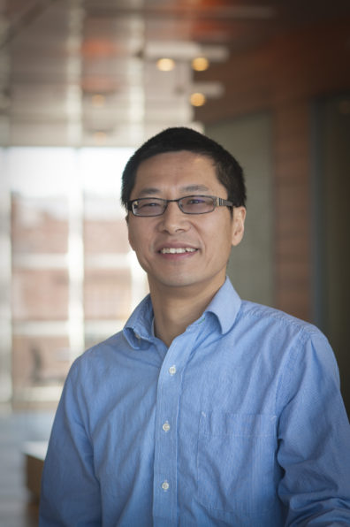 This is a photo of Assistant Professor Bin Shan, a cancer researcher at WSU Spokane.