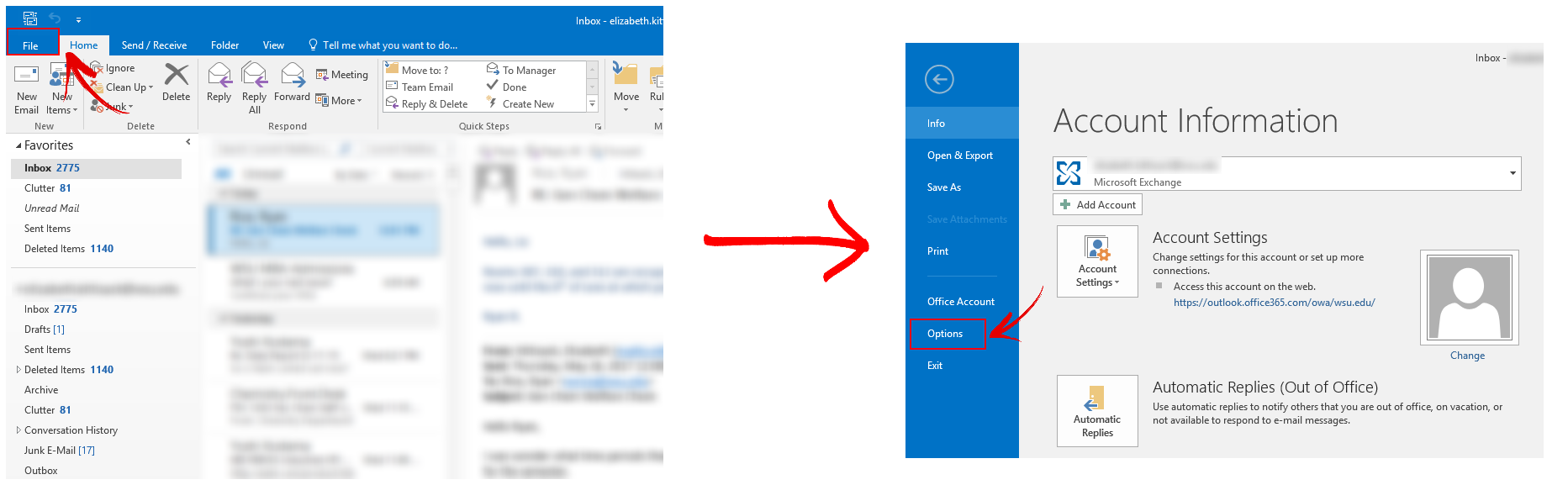 Outlook client