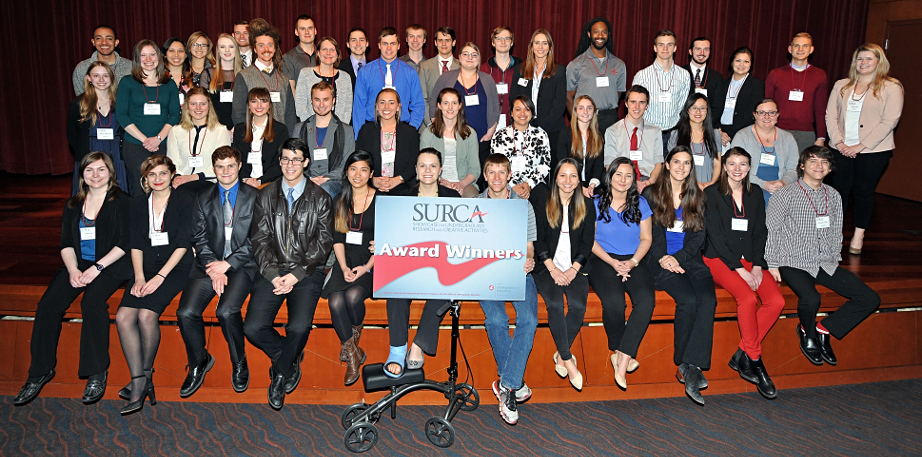 Group photo of SURCA 2017 award winners