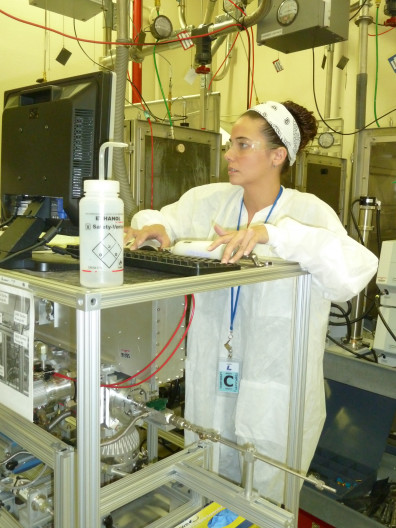 Courtney Herring working in the lab