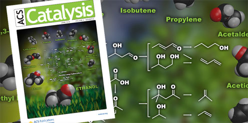 ACS Catalysis Cover: Biofuels to Plastics article featured with figure