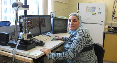 Prof. Nehal Abu-Lail in her lab