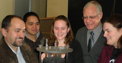 Prof. Haluk Beyenal, Jerome Babauta, Sarah Zeutschel, Prof. Bernard J. VanWie and Sarah Haarsma.