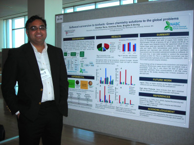 PhD student Diwaker Rana with his research