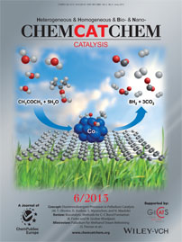 ChemCatChem Magazine Cover, June 2015, Wiley-VCH, Catalysis