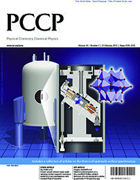 Physical Chemistry Chemical Physics (PCCP) cover, February 2012