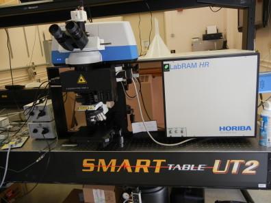 Horiba LabRAM HR Raman/FTIR microscope