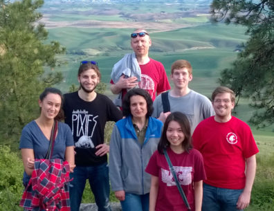 (front, l to r) Samantha Grover, Natalia Moroz, Thu Ly, Kevin Gray; (back, l to r) Mert Colpan, Dimitri Tolkatchev, Dillon Cooper