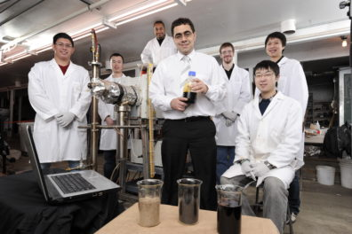 Prof. Manuel Garcia-Perez with his students in the lab