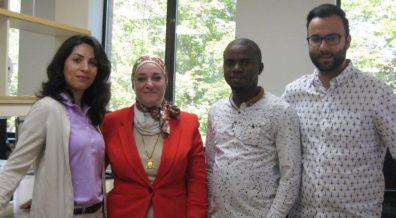 (l to r) Somayeh Ramezanian, Dr. Nehal Abu-Lail, Samuel Uzoechi, and Baran Arslan