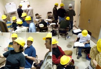 Bernie Van Wie's students working