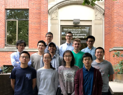 Di Wu's research group in front of the WSU Voiland School