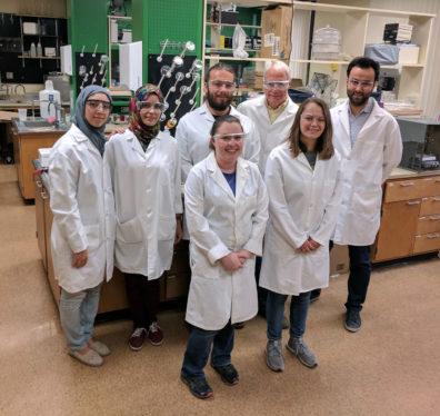 (back, l to r) Negar Beheshtipour, Haneen Abusharkh, Garry Smith, Dr. Bernie Van Wie, Baran Arslan: (front, l to r): Olivia Ranft, Monica