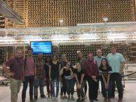 WSU REU Program students pose inside Hanford Nuclear Site