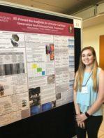 Alyssa Brandley with her poster presentation