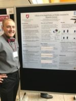 Chandler Shannon with his poster presentation