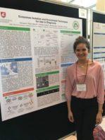 Genesis Valeria Ruiz Valentin with her poster presentation