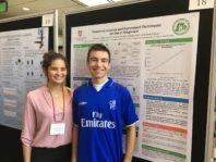 Genesis Valeria Ruiz Valentin and another student at the Symposium