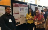 Jonathon Street presenting his poster to WSU students