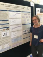 Mary Roberts with her poster presentation
