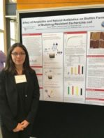Raquel Murillo with her poster presentation