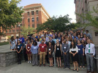 All of the undergraduate WSU summer program students at the Symposium