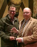 Dan Roark receiving WSU Voiland School Alumni Awards from Dr. Jim Petersen