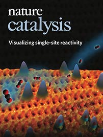 Cover of Nature magazine featuring Catalysis: Visualizing single-site reactivity