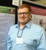 Zachary Furlow with his poster presentation