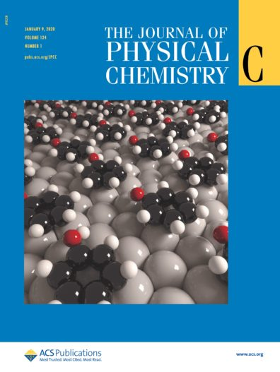 The Journal of Physical Chemistry cover, January 2020