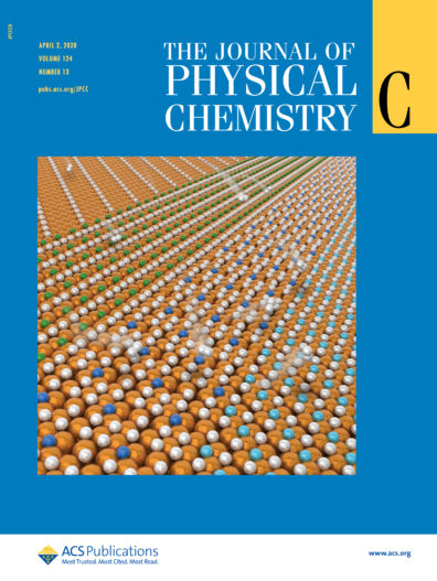 The Journal of Physical Chemistry Cover, April 2, 2020. Vol 124 Issue 13