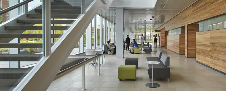 WSU Health Sciences Spokane lobby in pharmacy building