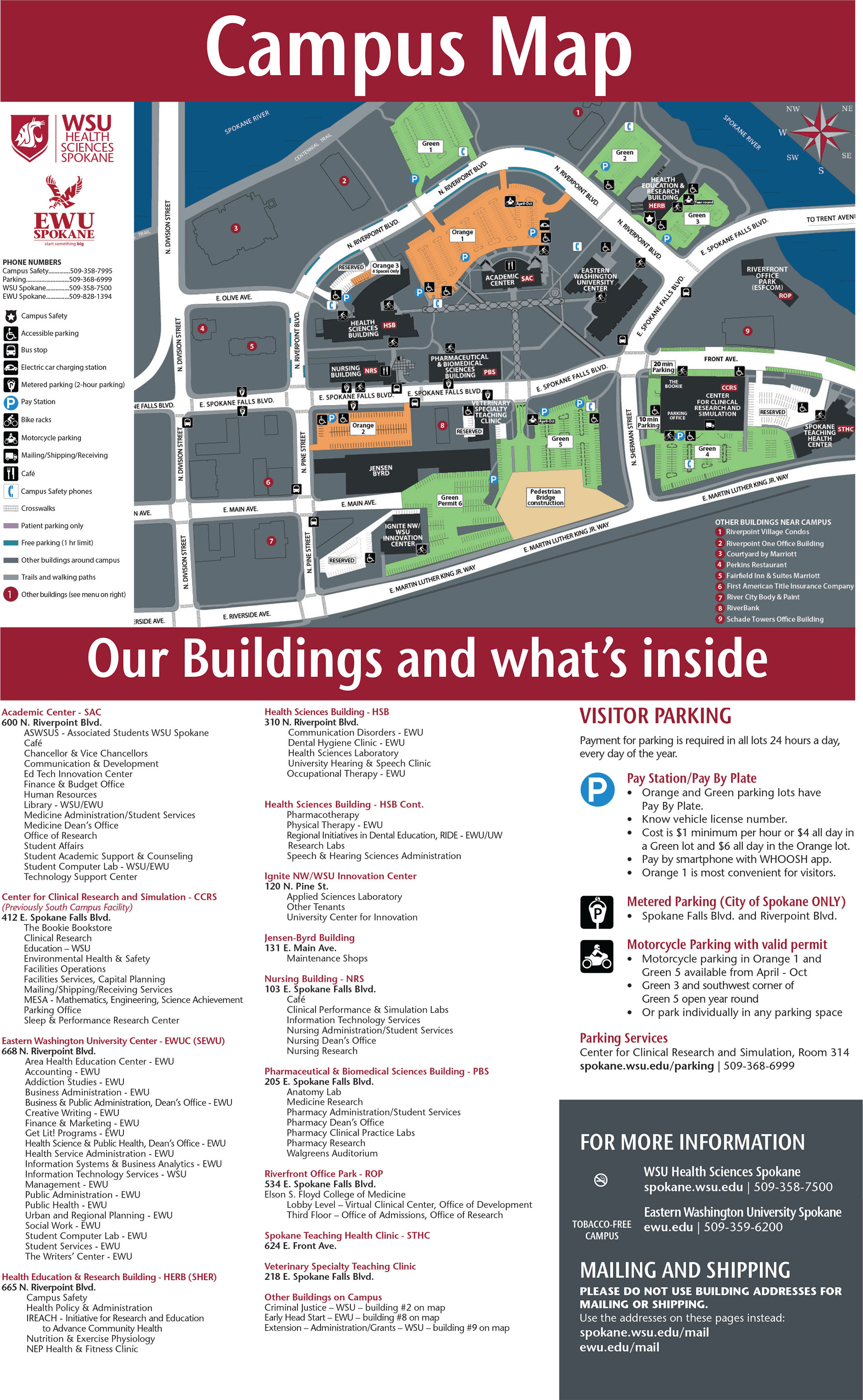 Campus Map Facilities Services Washington State University
