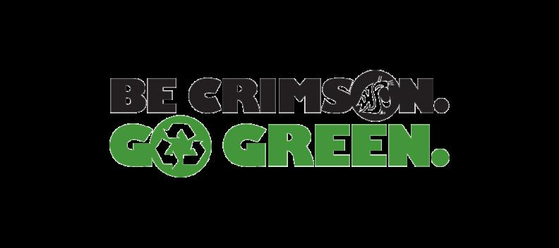 Be Crimson Go Green logo