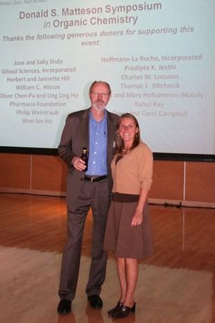 2005 Nobel Prize winner, Robert Grubbs with Carolyn