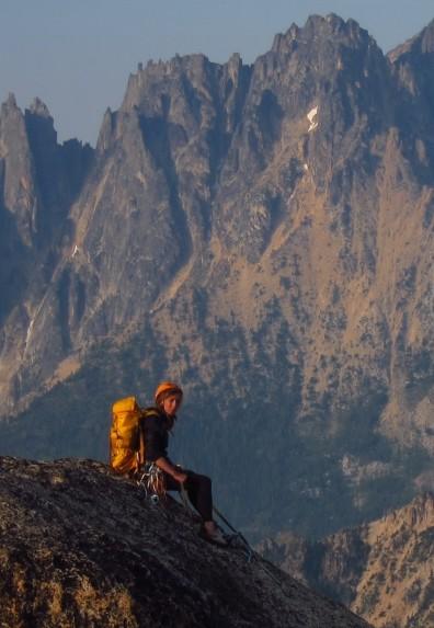 Sara Humphreys on top of a mountain.