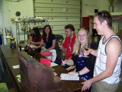 Wine tasting at Robinson Ranch Cellars