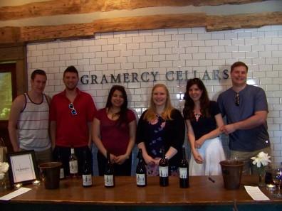 Group photo at Gramercy Cellars