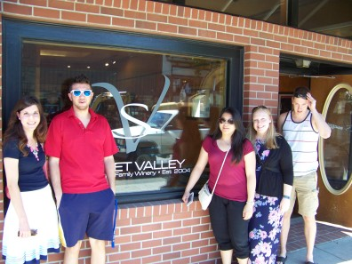Group Photo outside of Sweet Valley Wines