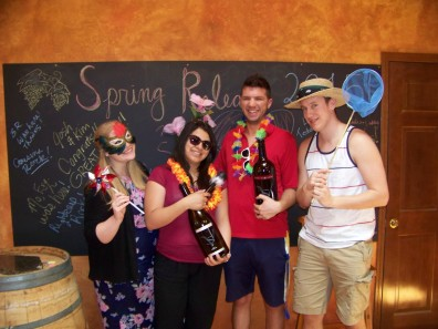 Graduate students at Sweet Valley Wines