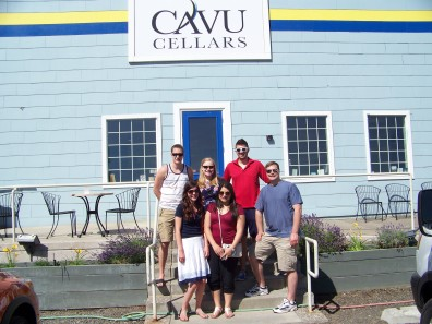 Group picture at Cavu Cellars