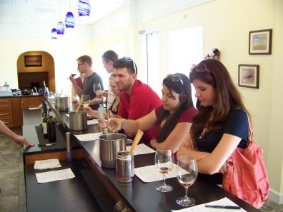 Wine tasting at Cavu Cellars