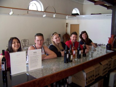 Wine tasting at Morrison Lane