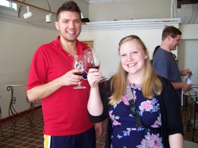 Ben and Paige showing off the Dolcetto at Morrison Lane