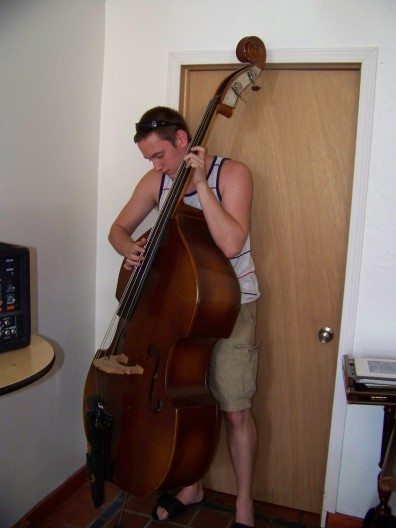 Nick playing the bass at Morrison Lane