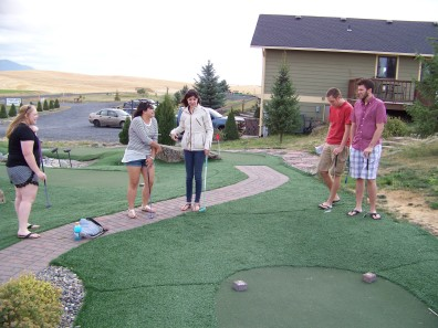 Heiden Group going Extreme Mini-Golf at Airway Hills