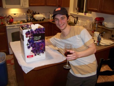 Ian with his South African Shiraz Wine Kit