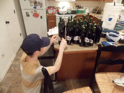 Adding the wine labels