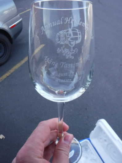 Wine tasting glass for the trip to Prosser.